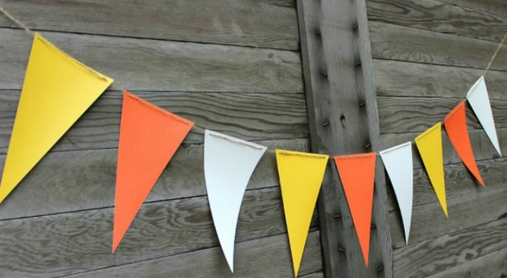 Candy Corn Banner: Quick Craft