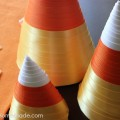 Candy Corn Paper Craft | Instructions on HoosierHomemade.com