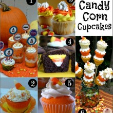 Candy Corn Cupcakes on HoosierHomemade.com