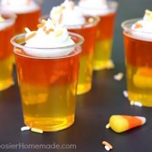 Candy Corn Jello Shots :: Recipe on HoosierHomemade.com