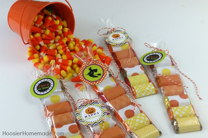 Candy Corn Treat Bags with FREE Printables