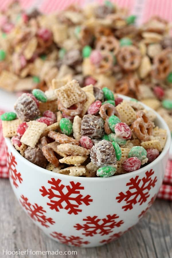 Candy Crunch in white and red bowl