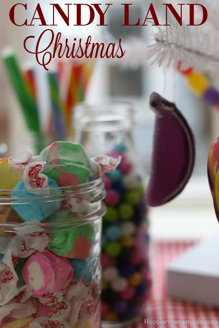 KITCHEN CHRISTMAS TREE -- This fun and whimsy Candy Christmas Tree is sure to brighten up your Christmas Decor!