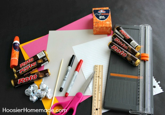 CANDY PENCILS - Make these FUN Candy Pencils for Teacher Gifts, Classroom Treats and more! The kids will have a blast helping to make them too! Just a few simple supplies are all you need!