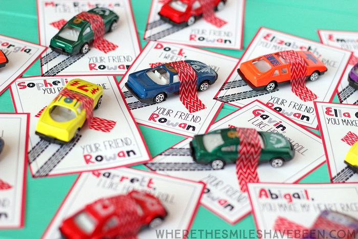 Valentines Day Printable Cards with Toy Cars