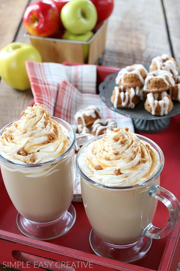 Caramel Apple Cinnamon Latte