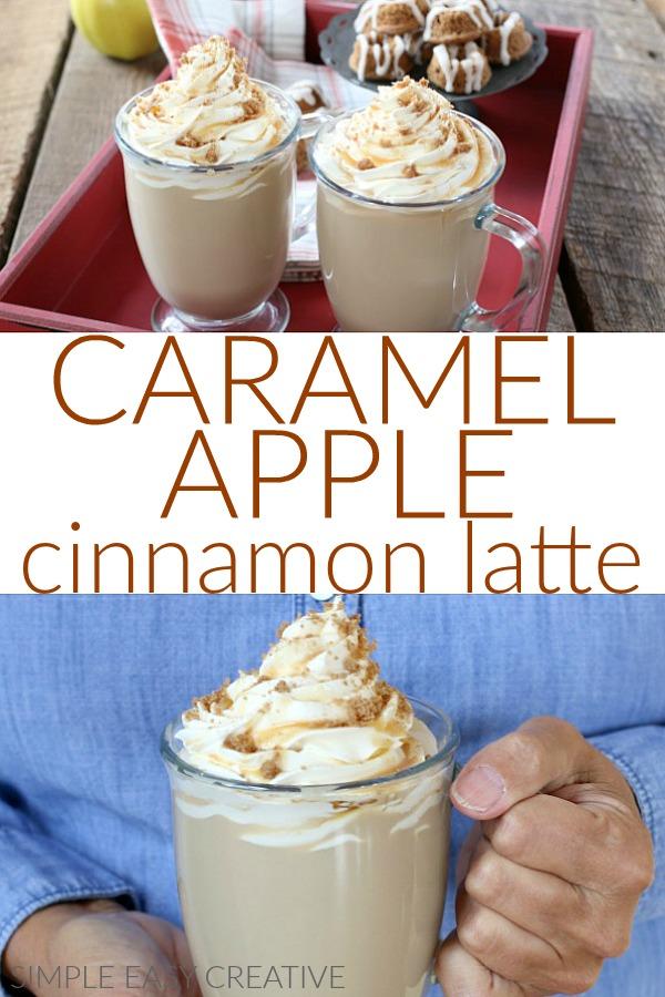 Caramel Apple Cinnamon Latte perfect for Fall