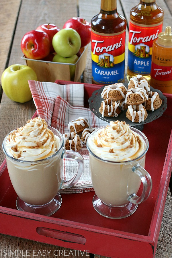 Torani Apple Syrup and Torani Caramel Syrup