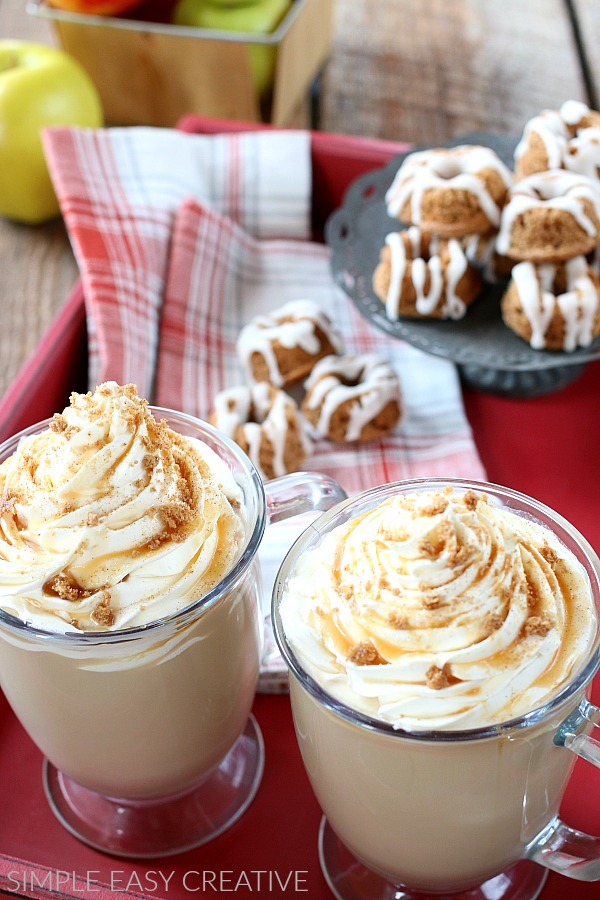 Caramel Apple Cinnamon Lattes