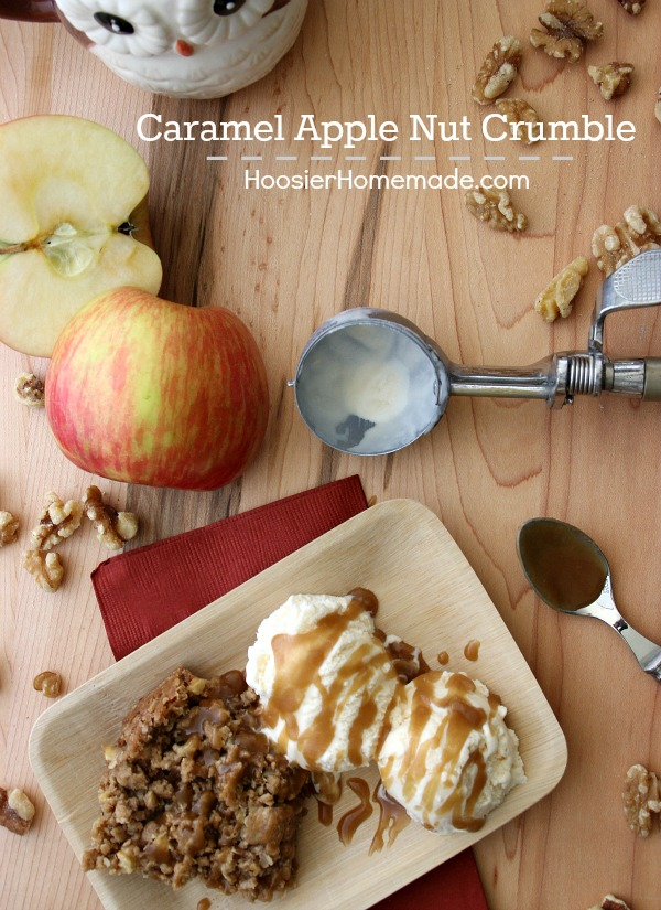 Caramel Apple Nut Crumble | Perfect for Fall Baking | Recipe on HoosierHomemade.com