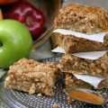 Caramel Apple Nut Bars Recipe :: HoosierHomemade.com