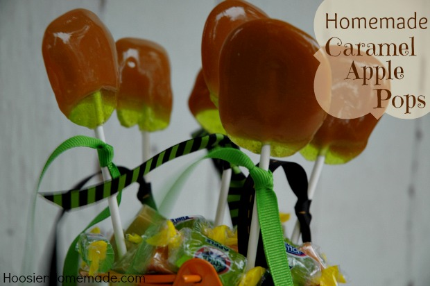 Caramel Apple Pops Recipe and Directions on HoosierHomemade.com