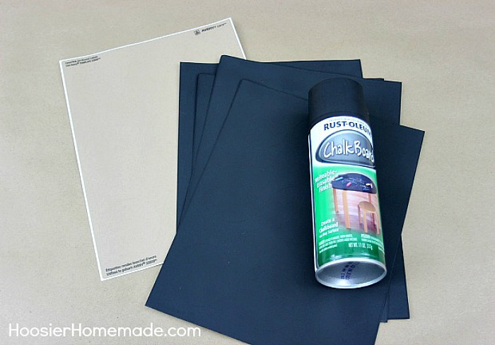 Supplies for Chalkboard Stickers