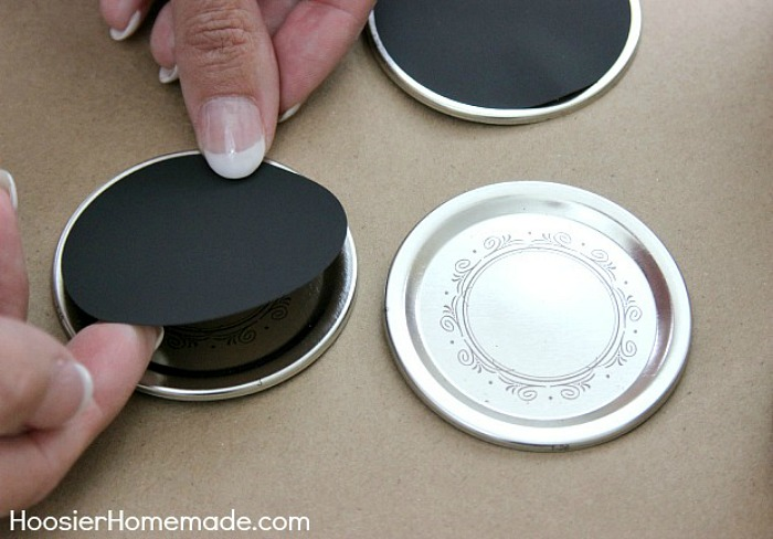 Adding Chalkboard Label to Mason Jar Lid