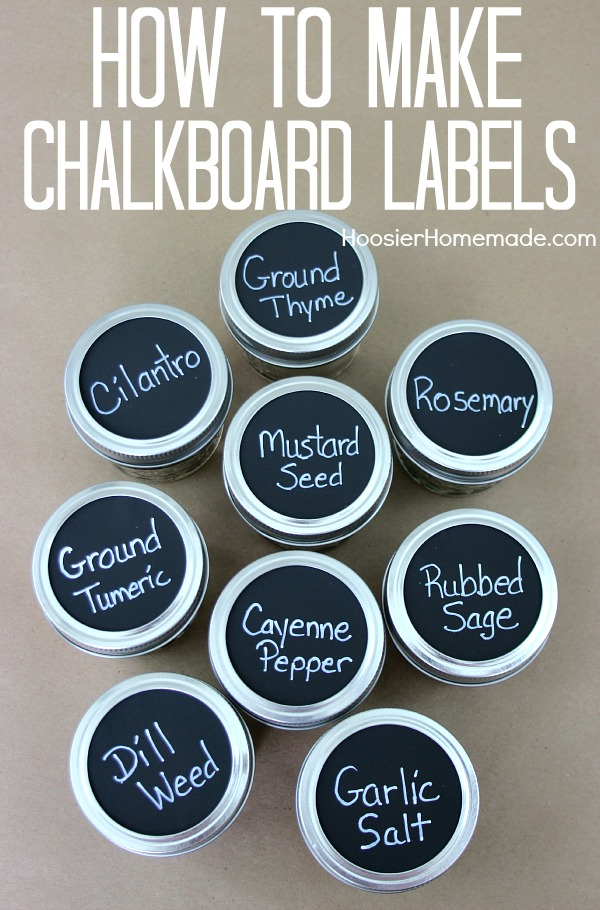 How to make Chalkboard Labels Instructions