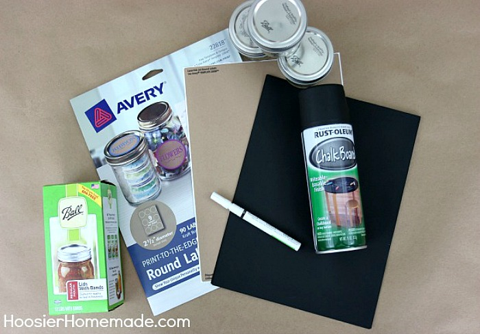Supplies to make Chalkboard Stickers