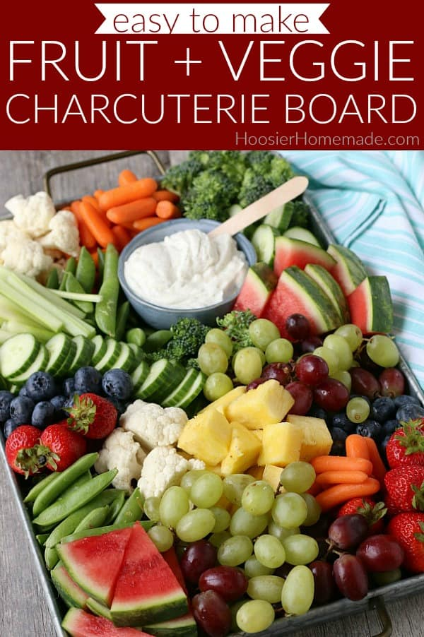 Fruit and Vegetable Charcuterie Board
