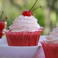 Cherry Almond Cupcakes :: HoosierHomemade.com
