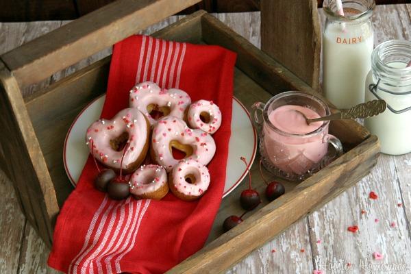 Cherry Doughnuts for Valentine's Day