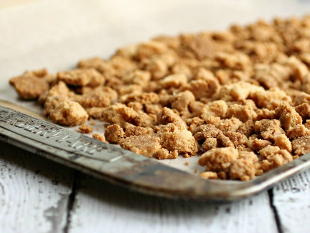 Cherry Crumb Pie in a Jar | Recipe on HoosierHomemade.com