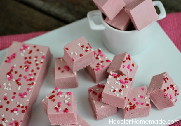 Cherry Vanilla Fudge | Recipe on HoosierHomemade.com