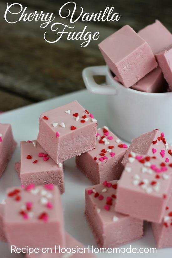 Cherry Vanilla Fudge   Recipe on HoosierHomemade.com