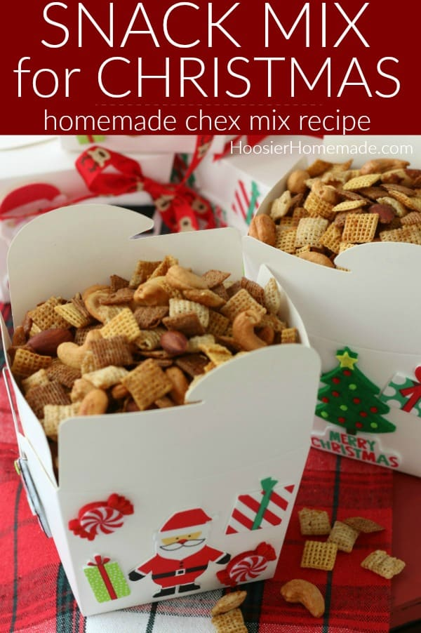 Snack Mix for Christmas