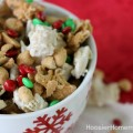 Peanut Butter & Chocolate Chex Party Mix | 15 minute treat | Recipe on HoosierHomemade.com