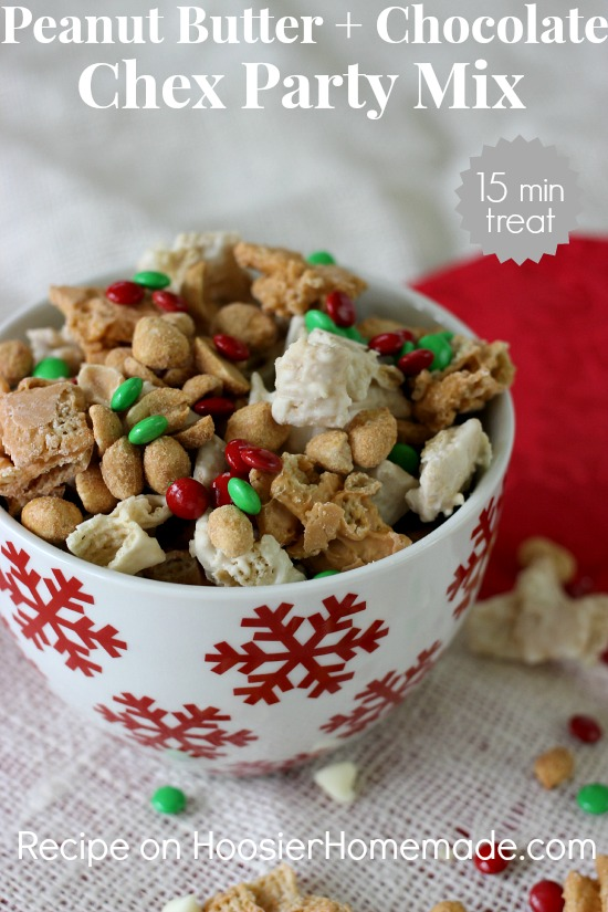 Peanut Butter & Chocolate Chex Party Mix | 15 minute treat | Recipe on ...