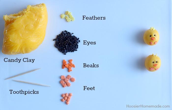 Supplies to make Chicks