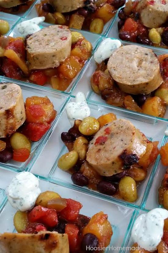 Jalapeno Chicken Sausage with Mango Salsa | Recipe on HoosierHomemade.com