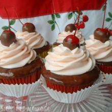 Choc Cherry Cupcakes.1