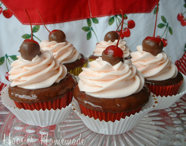 Cupcake Tuesday Chocolate Covered Cherry Cupcakes