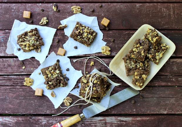 Chocolate Caramel Nut Bars :: Recipe on HoosierHomemade.com