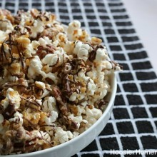 Chocolate Caramel Nut Popcorn