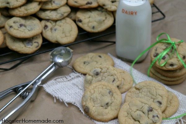 Soft and Chewy Chocolate Chip Cookies from Hoosier Homemade inkatrinaskitchen.com #BringtheCOOKIES