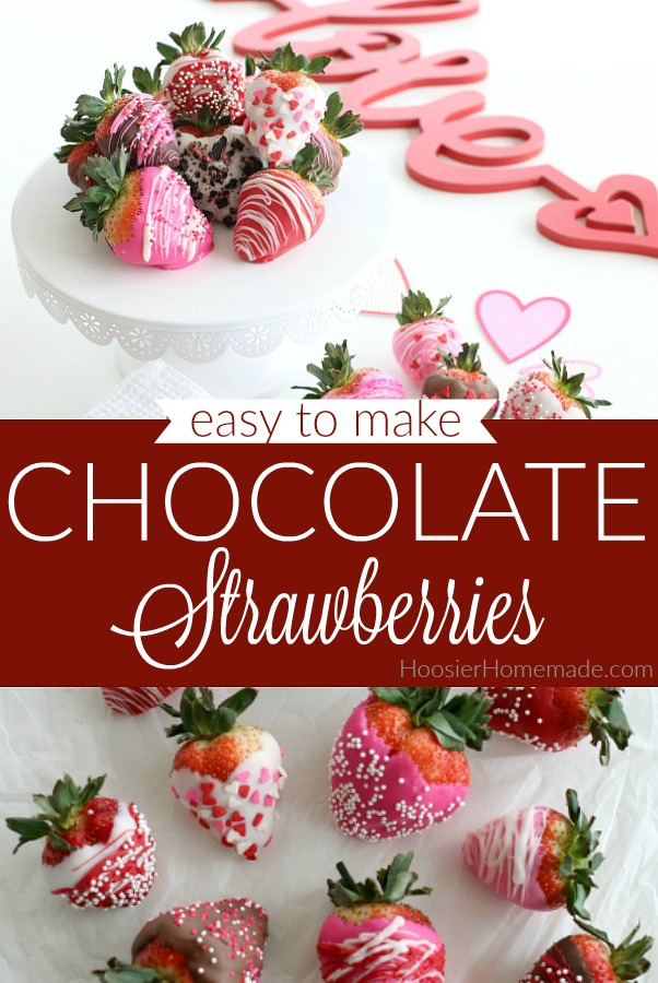 Easy to make Chocolate Dipped Strawberries