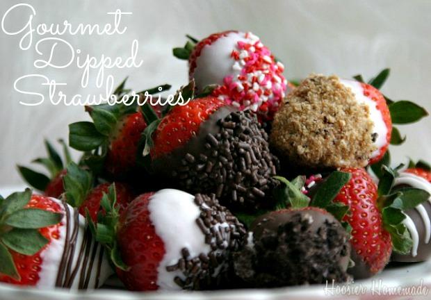 Gourmet Chocolate Dipped Strawberries :: Recipe on HoosierHomemade.com