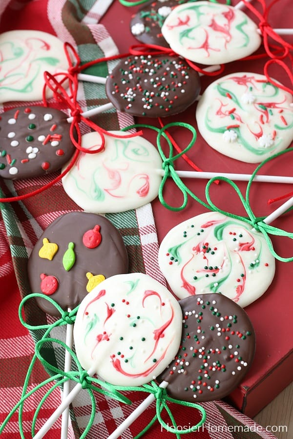 Christmas Chocolate Lollipops