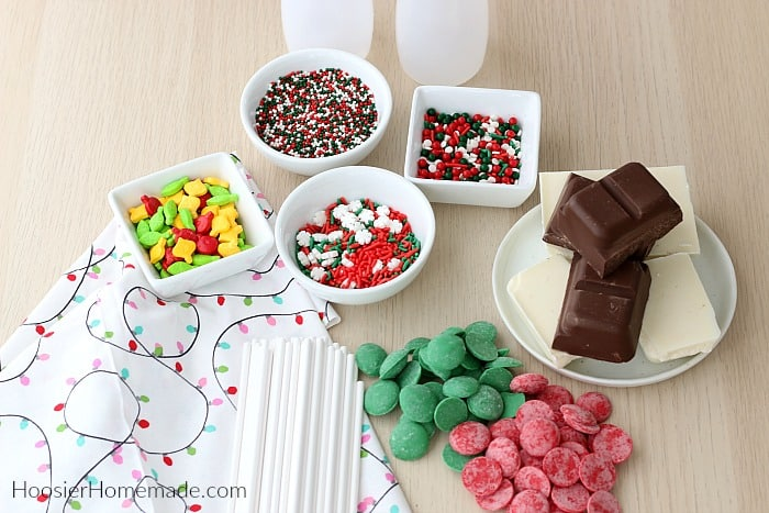 Ingredients for Chocolate Lollipops