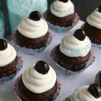 Chocolate Peppermint Pattie Cupcakes