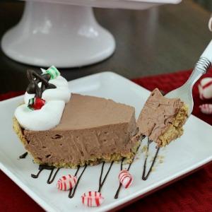 Chocolate Peppermint Pie :: HoosierHomemade.com