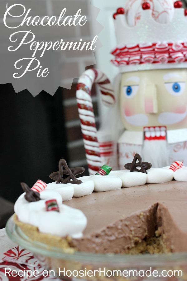 Chocolate Peppermint Pie | Recipe on HoosierHomemade.com