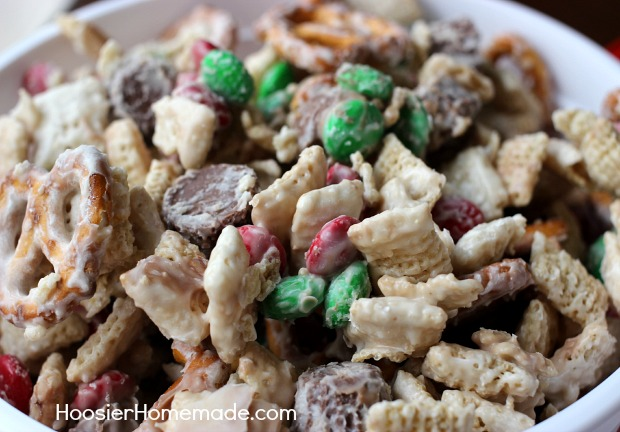 christmas party snack mix homemade holiday inspiration hoosier homemade - Recipes For Christmas Candy