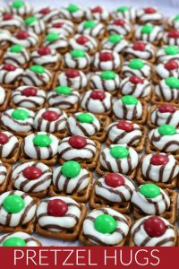 Christmas Candy Pretzel Hugs