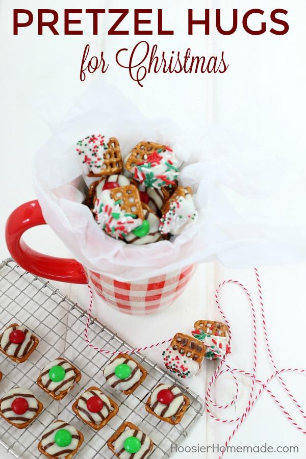 Christmas Pretzel Hugs- 2 ways!