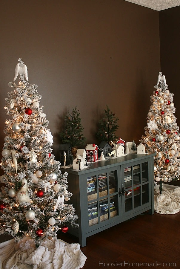 Christmas Trees in Dining Room