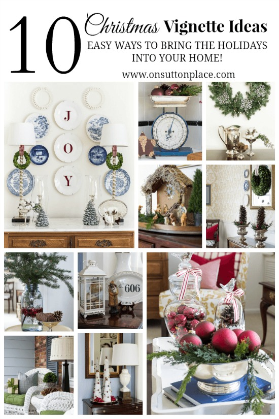 Christmas Decorations for Tables -- 10 ways to decorate your home for the holidays - 100 Days of Homemade Holiday Inspiration on HoosierHomemade.com