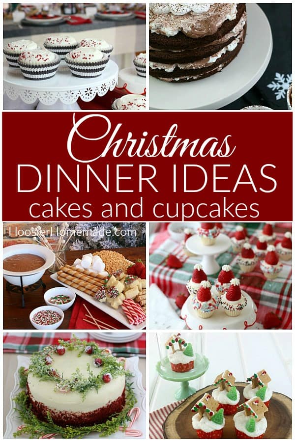 Christmas Dessert Recipes cakes and cupcakes