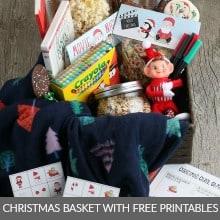 Christmas Basket with Printables